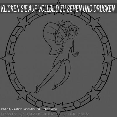 mandala zum ausdrucken feen (3)